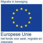 Logo Migratie in beweging AMIF